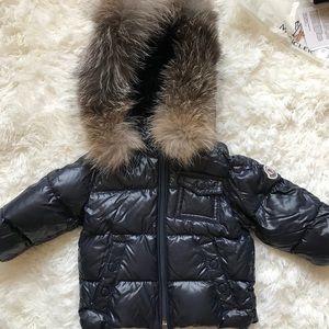 Moncler K2 Water Restnt Hood Down Jacket w/Fox Fur